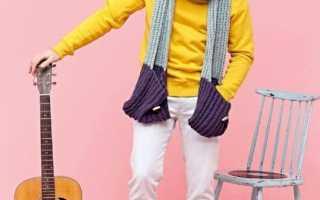 Мужские шарфы вязаные спицами двухсторонние