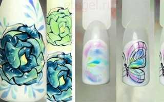 Акварельные капли на ногтях: идеи, которые принесут нежность в ваш образ (60 фото + видео)