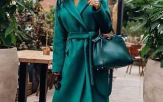 Зеленое пальто с чем носить