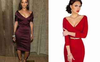 С чем носить бордовое платье?