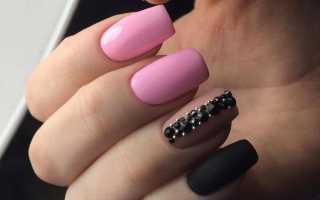 Особенности черного маникюра для коротких ногтей