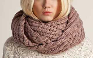 Пошаговые мастер-классы: как связать шарф хомут спицами