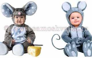 Превращаем озорного ребенка в маленького мышонка. инструкция по созданию костюма для девочки