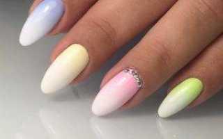 Как сделать миндальную форму ногтей с фото и видео