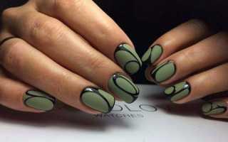 Ногти цвета хаки матовые