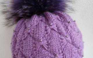 Классная подборка шапок, связанных спицами резинкой