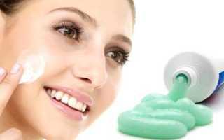 Можно ли мазать зубную пасту от прыщей?
